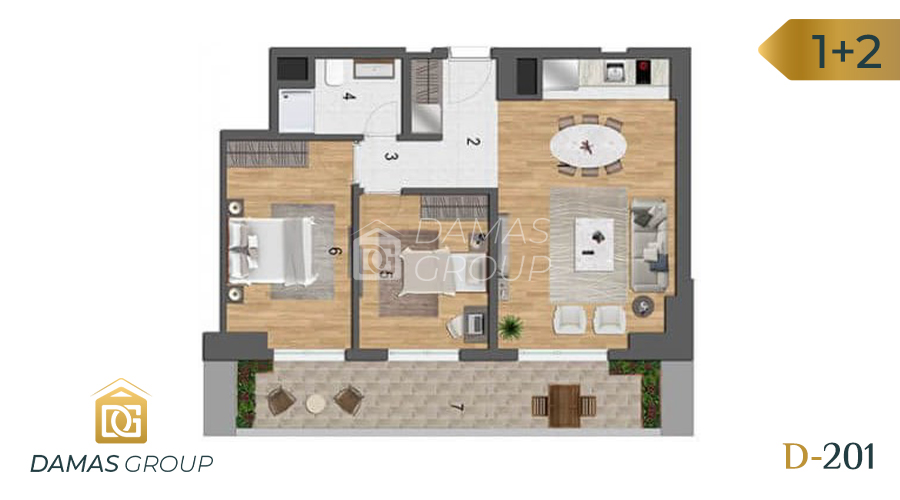 Damas Project D-201 in Istanbul - Floor Plan 04