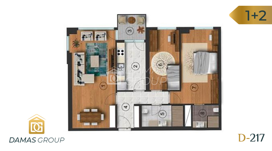Damas Project D-217 in Istanbul - Floor Plan 02