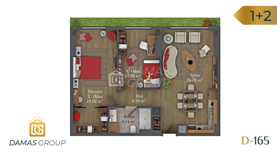 مجمع داماس 165 في اسطنبول  - صورة مخطط 03