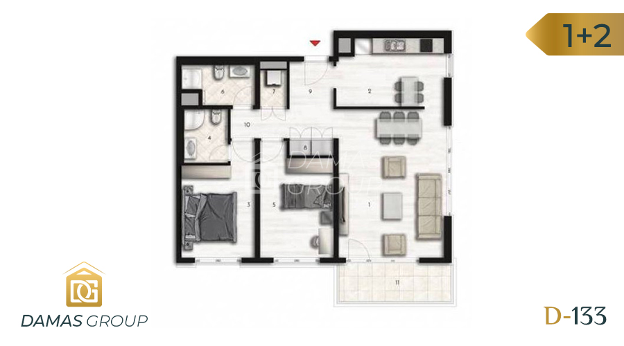 Damas Project D-133 in Istanbul - Floor Plan 04