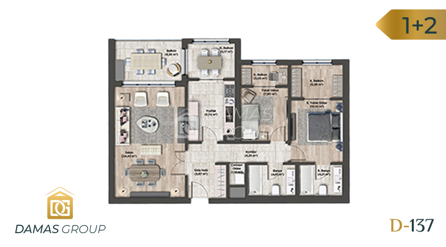 Damas Project D-137 in Istanbul - Floor Plan 02