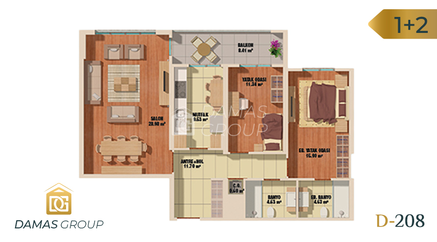 Damas Project D-208 in Istanbul - Floor Plan 02