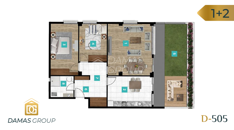 Damas Project D-061 in kocaIi - Floor Plan 03