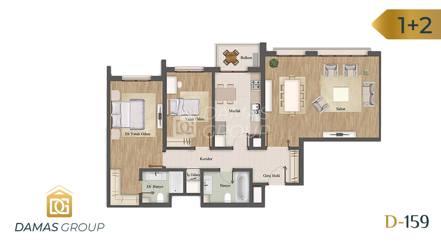 Damas Project D-159 in Istanbul - Floor Plan 03