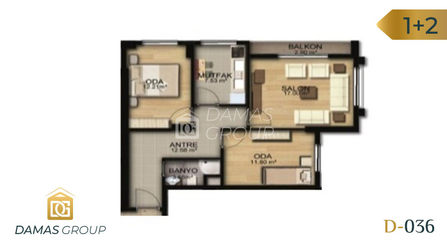 Damas Project D-036 in Istanbul - Floor Plan 04