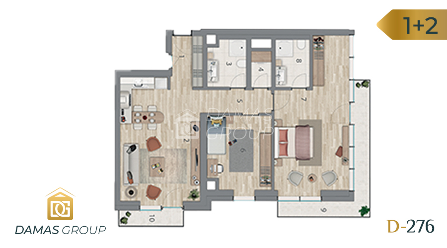 Damas Project D-276 in Istanbul - Floor Plan 03