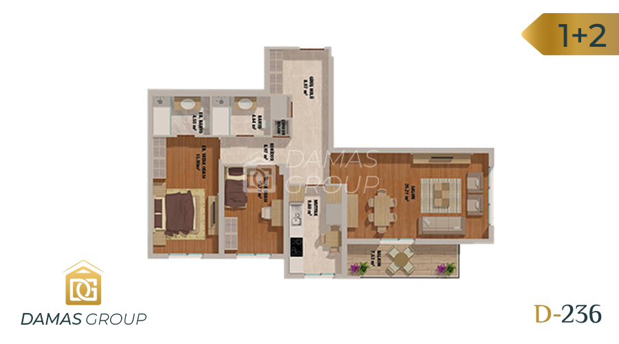 Damas Project D-236 in Istanbul - Floor Plan 02