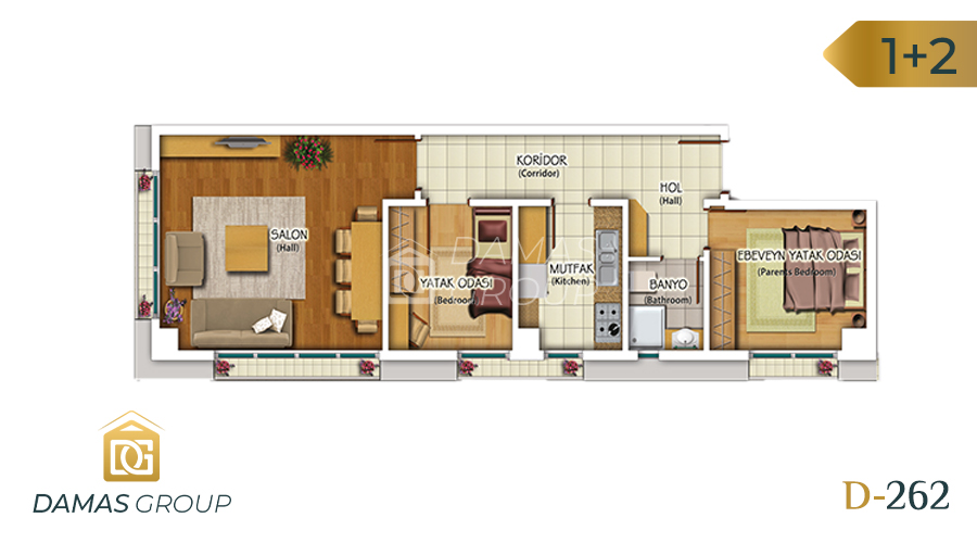Damas Project D-262 in Istanbul - Floor Plan 04