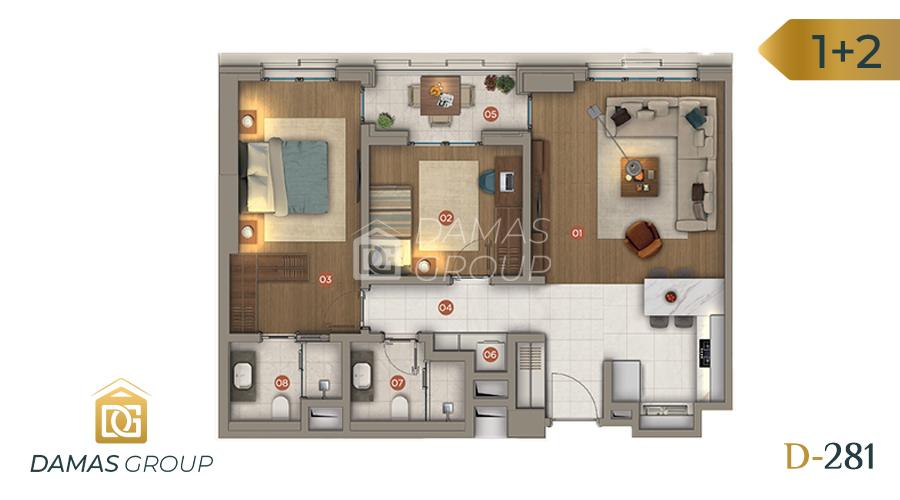 Damas Project D-281 in Istanbul - Floor Plan 03