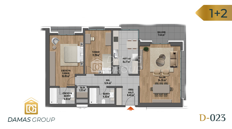 Damas Project D-023 in Istanbul - Floor Plan 03