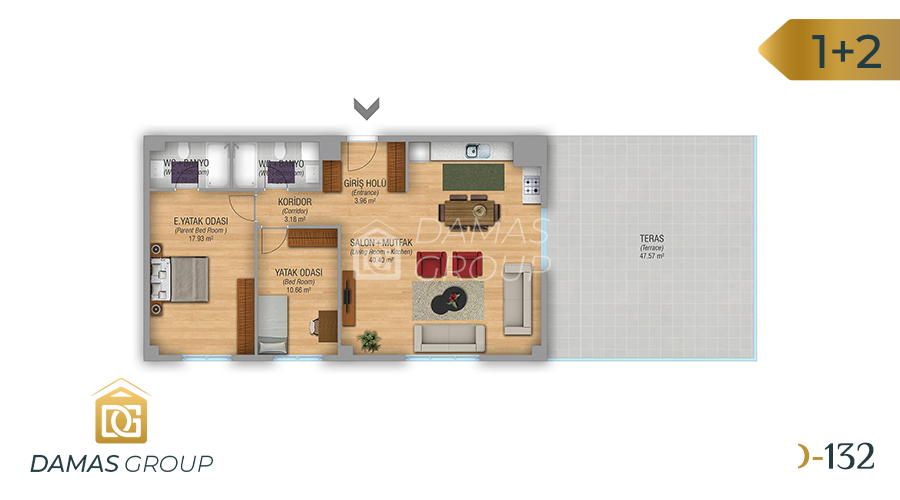 Damas Project D-132 in Istanbul - Floor Plan 04