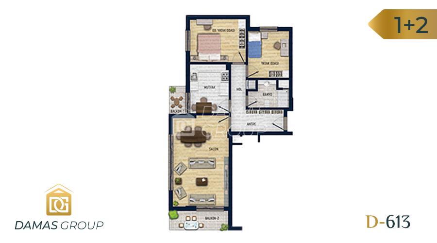 Damas Project D-613 in Antalya - Floor Plan 03