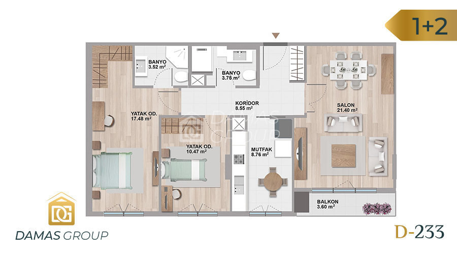 Damas Project D-233 in Istanbul - Floor Plan 03