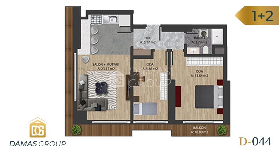 Damas Project D-0445 in Istanbul - Floor Plan 04