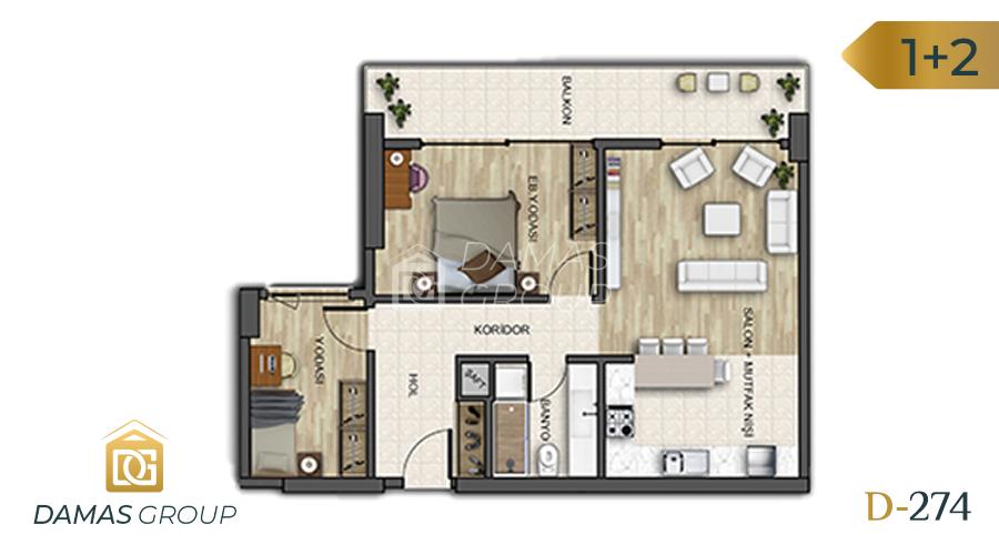 Damas Project D-274 in Istanbul - Floor Plan 04