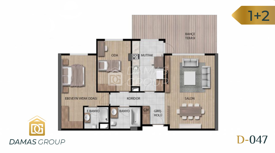 Damas Project D-046 in Istanbul - Floor Plan 02