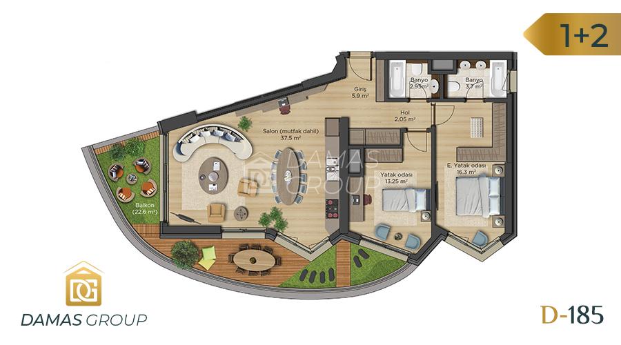 مجمع داماس 18 في اسطنبول  - صورة مخطط 03