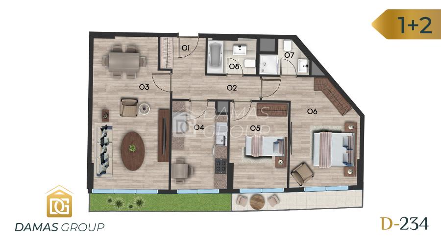 Damas Project D-234 in Istanbul - Floor Plan 03
