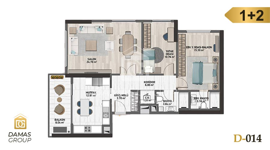 Damas Project D-014 in Istanbul - Floor Plan 03