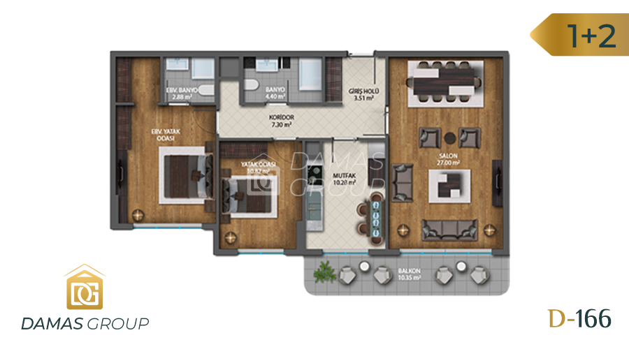 Damas Project D-1661 in Istanbul - Floor Plan 03