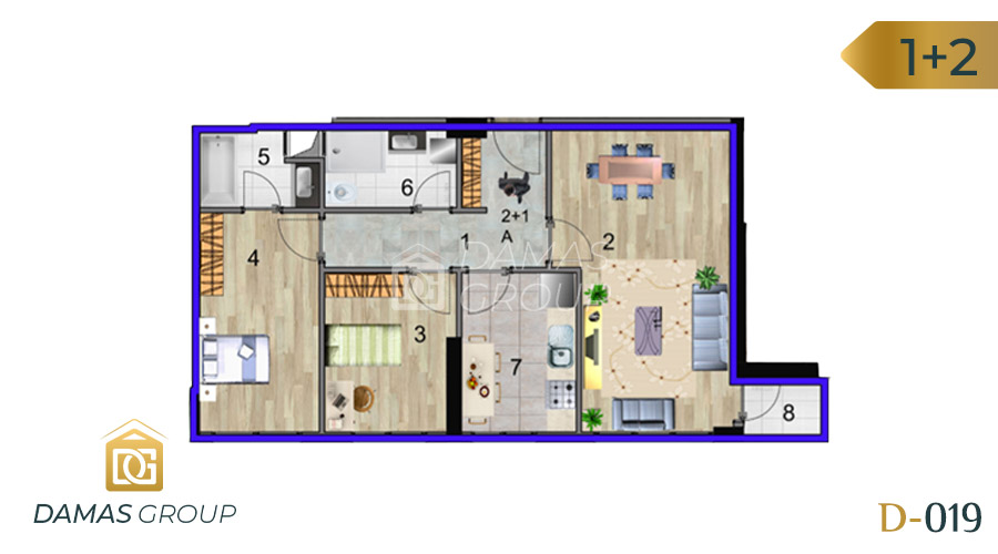Damas Project D-019 in Istanbul - Floor Plan 02