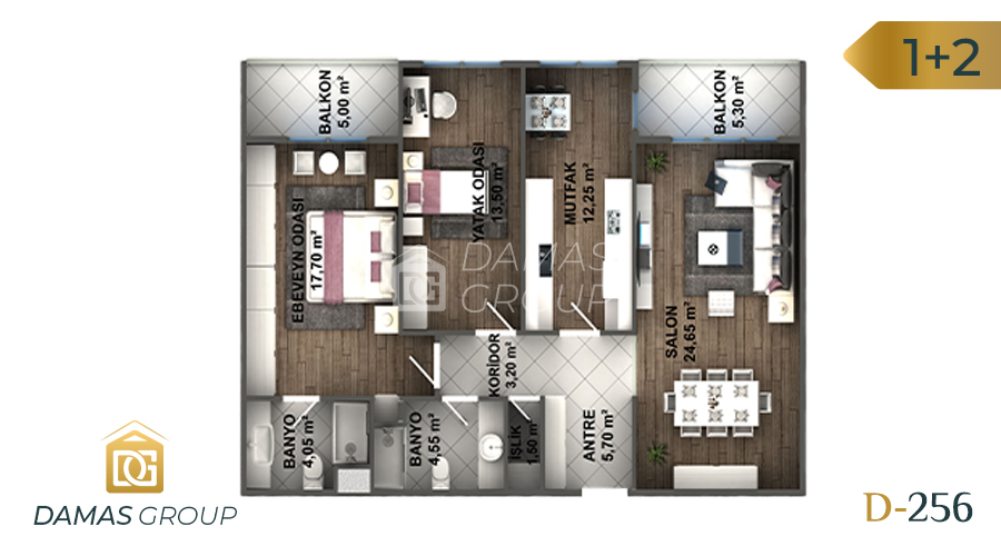 Damas Project D-256 in Istanbul - Floor Plan 03