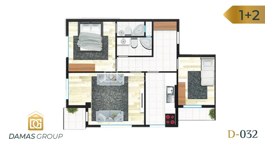 Damas Project D-032 in Istanbul - Floor Plan 02