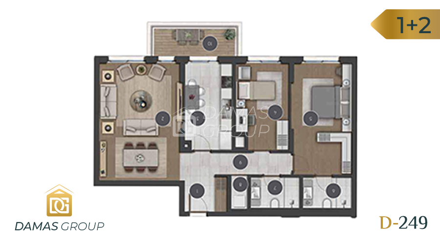 مجمع داماس 249 في اسطنبول  - صورة مخطط 02
