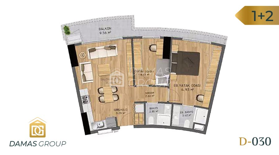 Damas Project D-030 in Istanbul - Floor Plan 04