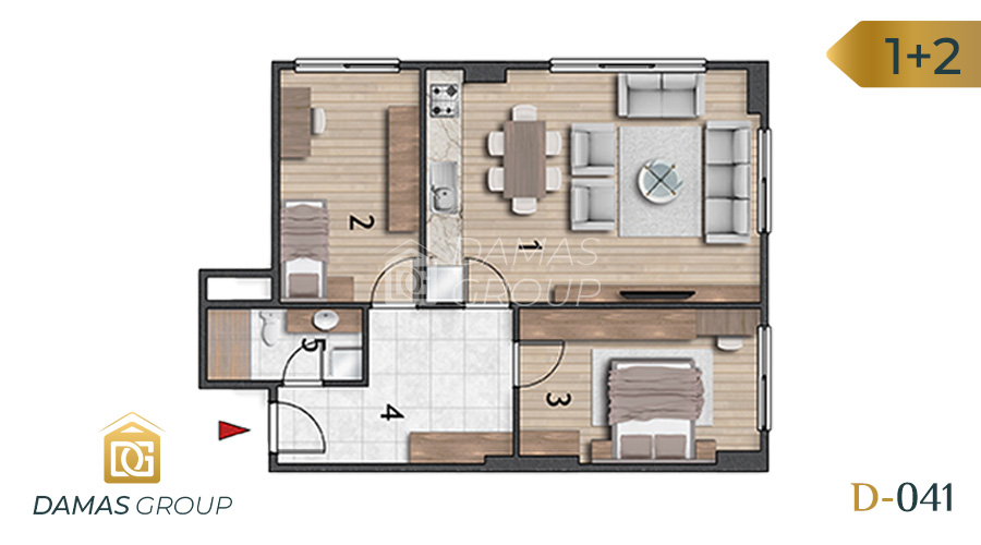 Damas Project D-041 in Istanbul - Floor Plan 04