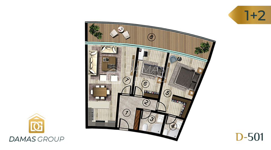 Damas Project D-501 in kocali - Floor Plan 04