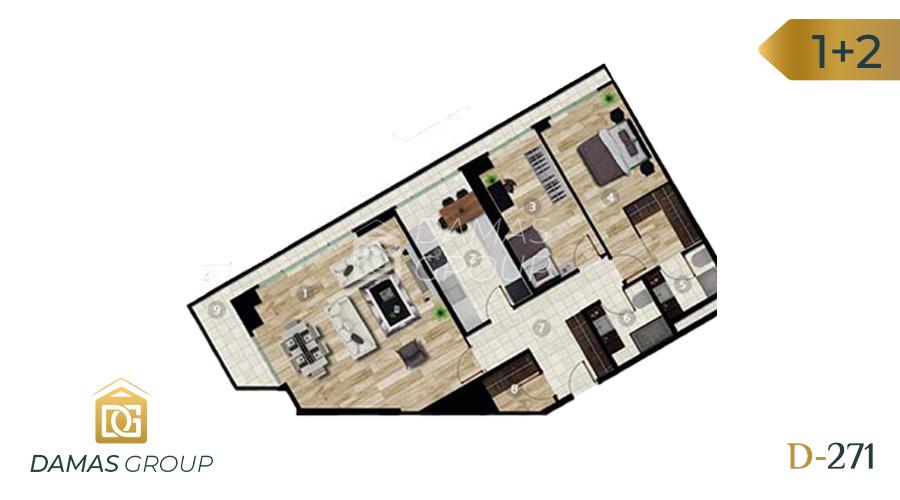 مجمع داماس 271 في اسطنبول  - صورة مخطط 03