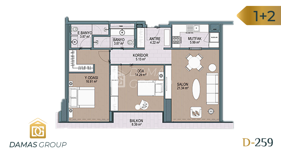 Damas Project D-259 in Istanbul - Floor Plan 04