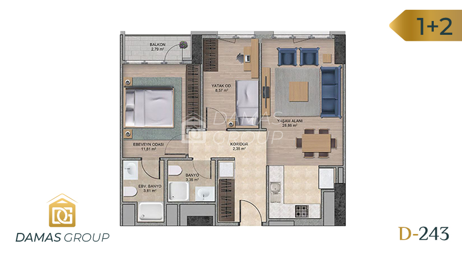 Damas Project D-243 in Istanbul - Floor Plan 04