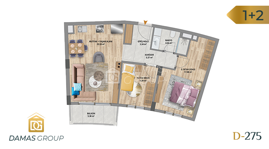Damas Project D-275 in Istanbul - Floor Plan 02