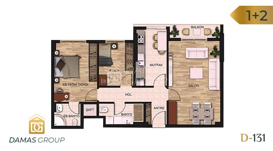 Damas Project D-131 in Istanbul - Floor Plan 02