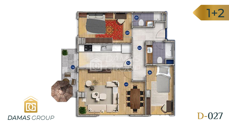 Damas Project D-027 in Istanbul - Floor Plan 04