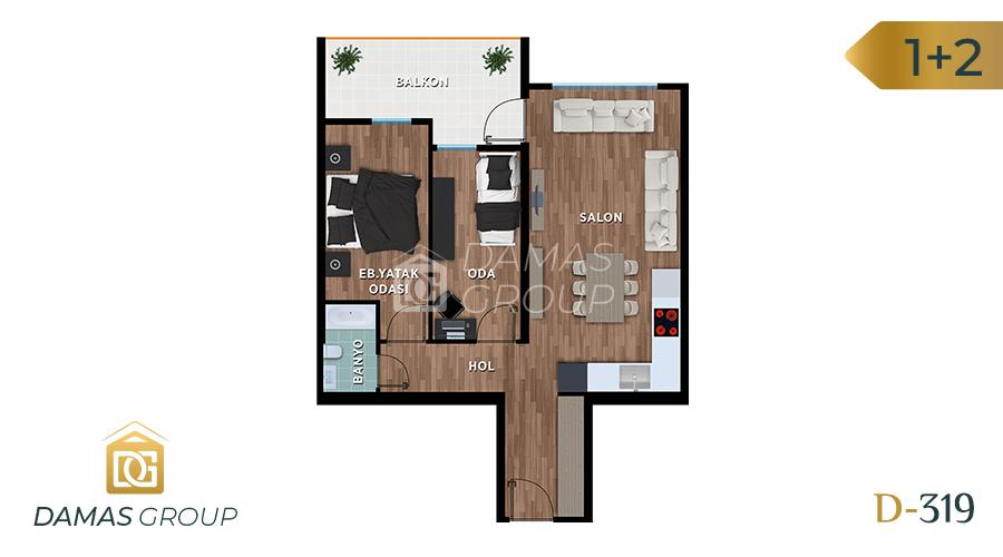 مجمع داماس 319 في بورصة  - صورة مخطط 02