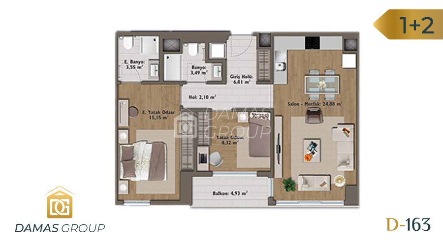 Damas Project D-163 in Istanbul - Floor Plan 04
