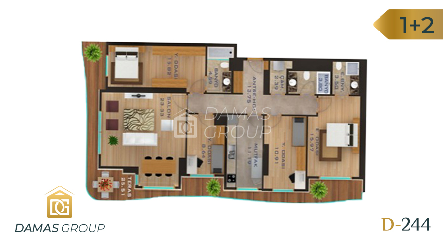 Damas Project D-244 in Istanbul - Floor Plan 03