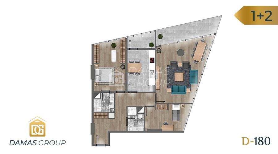 Damas Project D-180 in Istanbul - Floor Plan 03