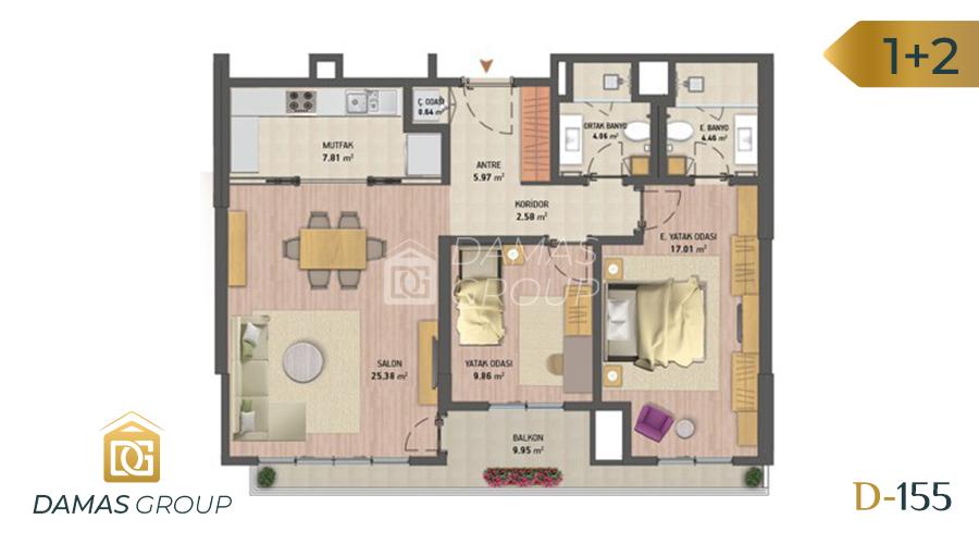 Damas Project D-155 in Istanbul - Floor Plan 03