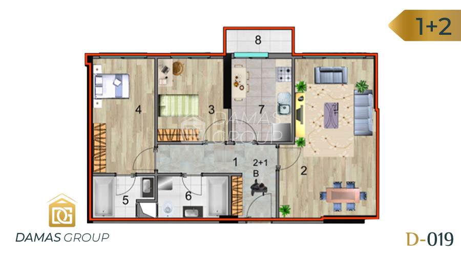 Damas Project D-019 in Istanbul - Floor Plan 03