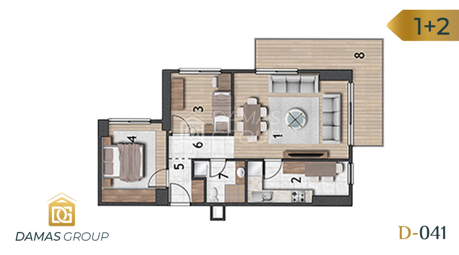 Damas Project D-041 in Istanbul - Floor Plan 05