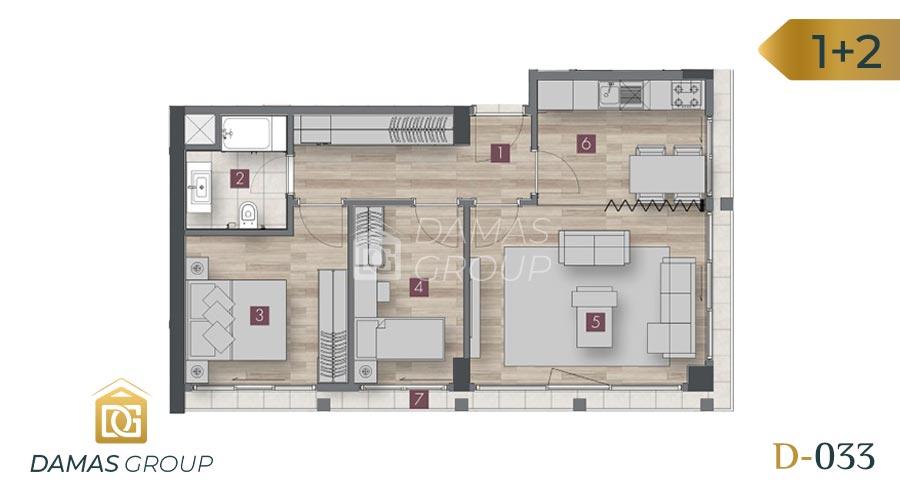 مجمع داماس 033 في اسطنبول  - صورة مخطط 05