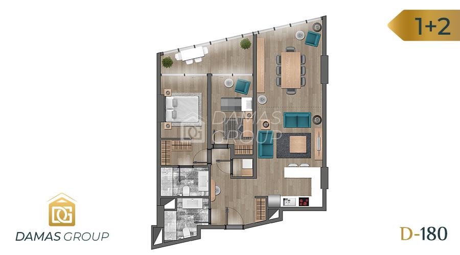 Damas Project D-180 in Istanbul - Floor Plan 04