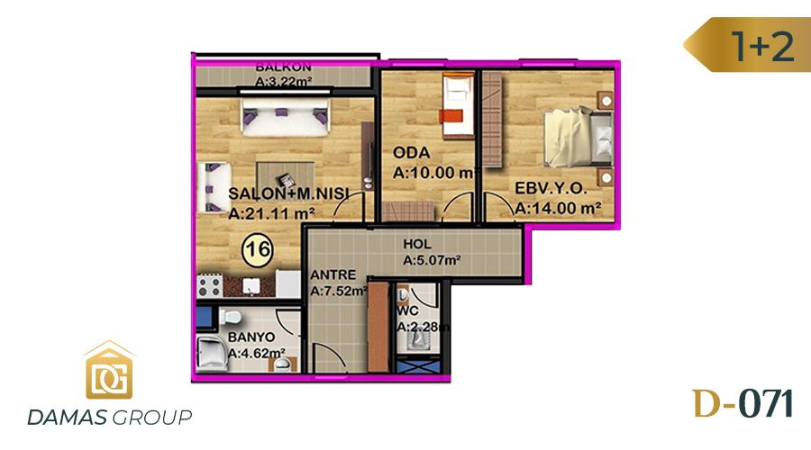 Damas Project D-071 in Istanbul - Floor Plan 02