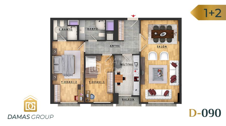 مجمع داماس 090 في اسطنبول  - صورة مخطط 01