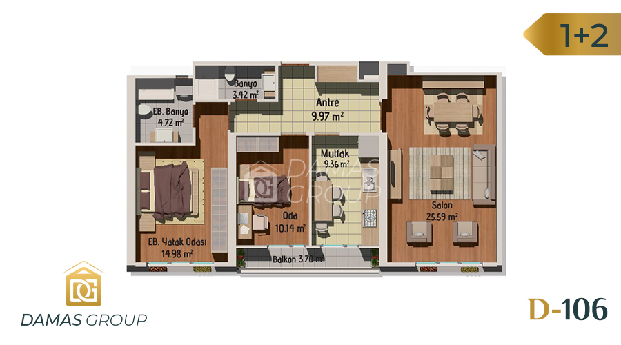 مجمع داماس 106 في اسطنبول  - صورة مخطط 01