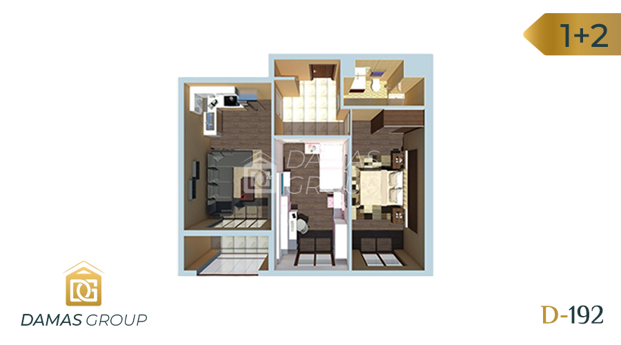 Damas Project D-192 in Istanbul - Floor Plan 01